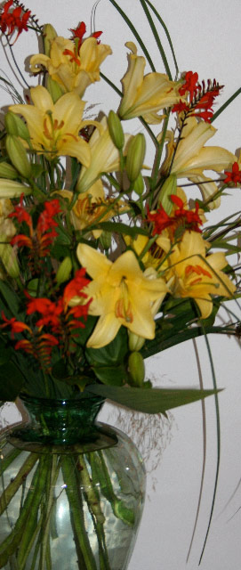 Flowers for Special Events: A line of lilies