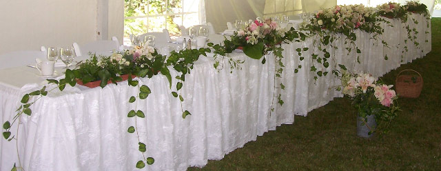 Spring head table detail