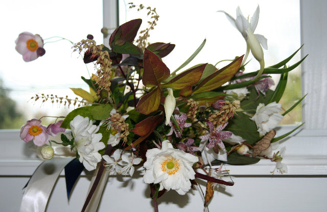 Colour and Light in October - a bride's maid's bouquet